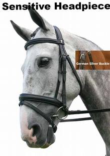 Sabre Cordoba Sensitive German Silver Padded  Snaffle Comfort Bridle